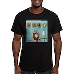 Veggy Hunter Men's Fitted T-Shirt (dark)