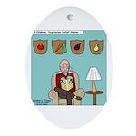 Veggy Hunter Ornament (Oval)