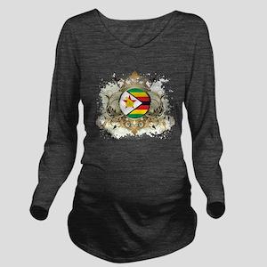 Stylish Zimbabwe Long Sleeve Maternity T-Shirt