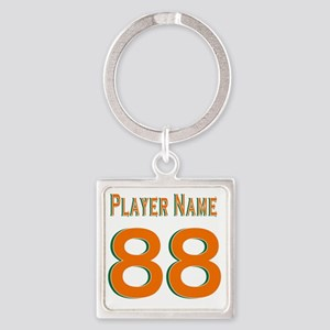 SamplePlayerName88Hurricanes Square Keychain