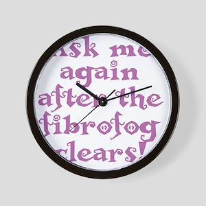 fibrofog_purple Wall Clock