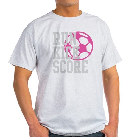 run-kick-score-darks Light T-Shirt