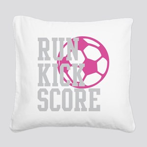 run-kick-score-darks Square Canvas Pillow