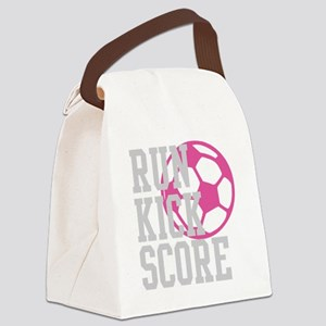 run-kick-score-darks Canvas Lunch Bag