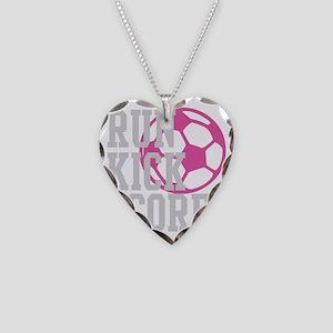 run-kick-score-darks Necklace Heart Charm