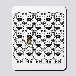 Smooth Collie and Sheep Mousepad