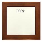 Poot Framed Tile