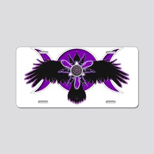 Crow Triple Goddess - Purpl Aluminum License Plate