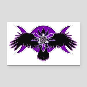 Crow Triple Goddess - Purple Rectangle Car Magnet