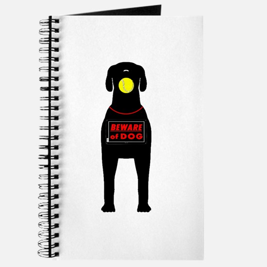 Beware of Dog with ball Journal