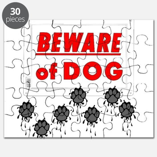 Beware of Dog Muddy Paws Puzzle