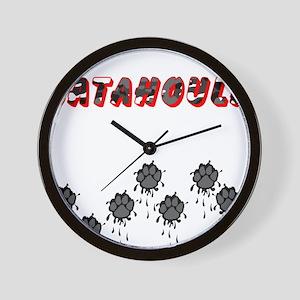Catahoula Muddy Paws Wall Clock
