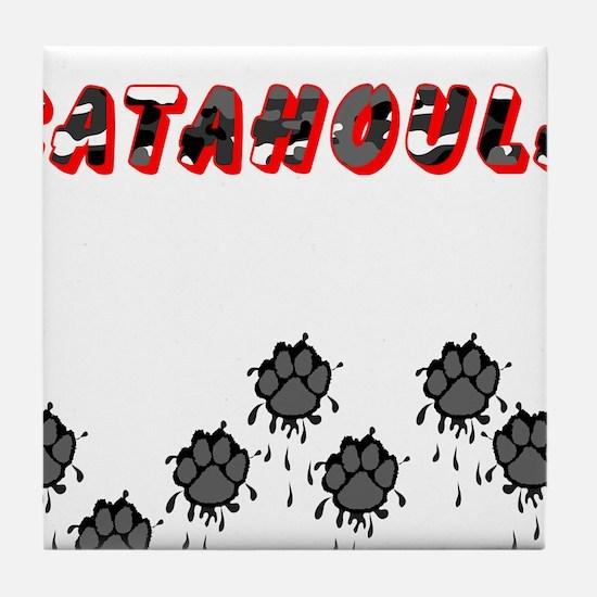 Catahoula Muddy Paws Tile Coaster