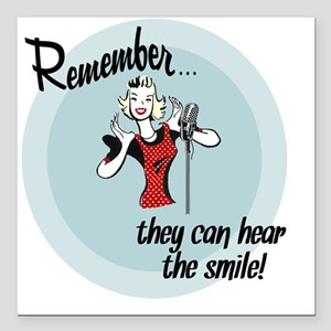 "smile Square Car Magnet 3"" x 3"""
