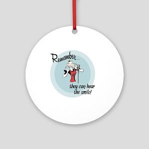 smile Round Ornament