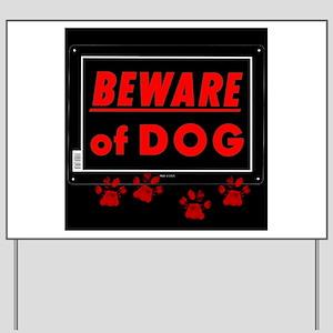 Beware of Dog full Yard Sign