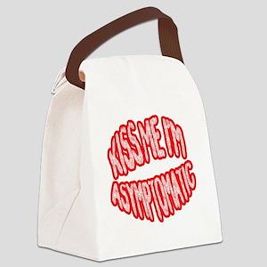 Kiss Me, Im Asymptomatic Canvas Lunch Bag