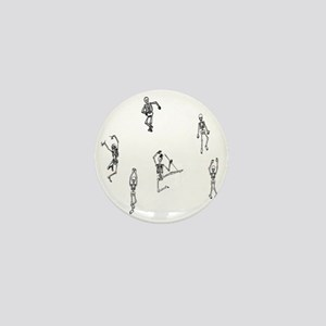 2-skeletons dancing Mini Button