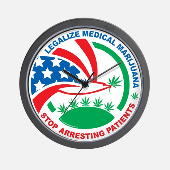 Legalize-Marijuana-Stop-Arresting-Patie Wall Clock