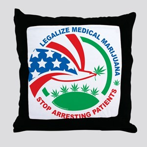 Legalize-Marijuana-Stop-Arresting-Pat Throw Pillow