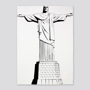christ the redeemer 5'x7'Area Rug