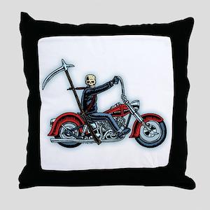 Death Rider Throw Pillow