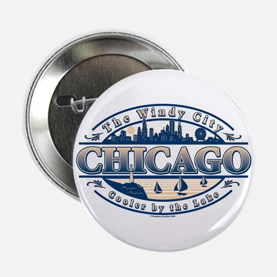 Chicago Oval Button