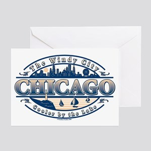 Chicago Oval Greeting Cards (Pk of 10)