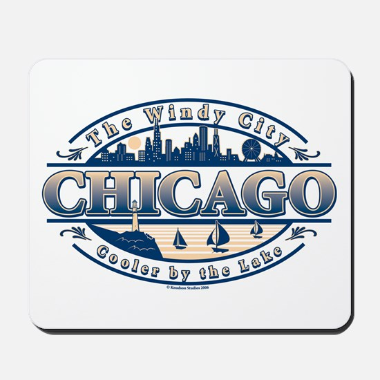 Chicago Oval Mousepad