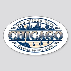 Chicago Oval Oval Sticker