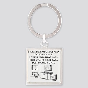 old fart Square Keychain