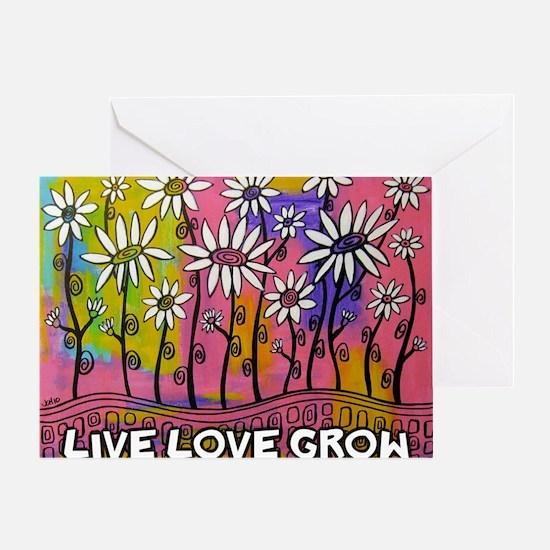 zazzle livelovegrow daisy poster Greeting Card