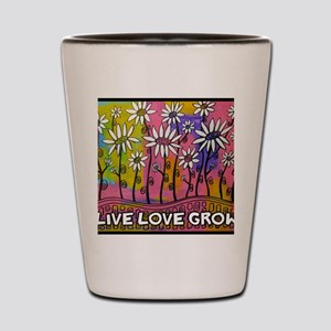 zazzle livelovegrow daisy poster Shot Glass