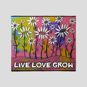 zazzle livelovegrow daisy poster Throw Blanket