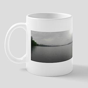 Misty Adirondack Morning Panorama Mug