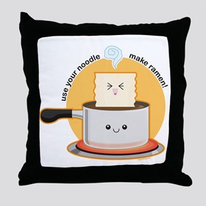 Make-ramen Throw Pillow