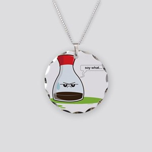 Soywhat Necklace Circle Charm