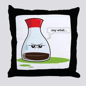 Soywhat Throw Pillow