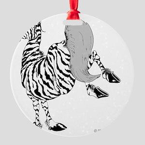zeke kick 10 x 10 150ppi 3.29.09 co Round Ornament