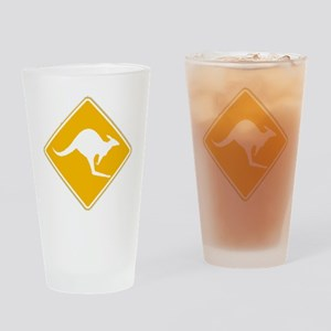 Roo Sign Drinking Glass