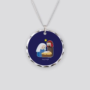 Nativity-ornament Necklace Circle Charm
