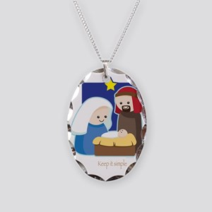 Nativity Necklace Oval Charm