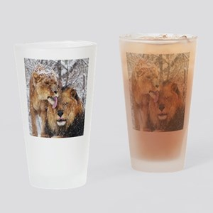 winter lions Drinking Glass