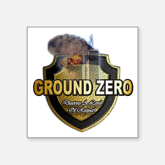 "GroundZero Square Sticker 3"" x 3"""
