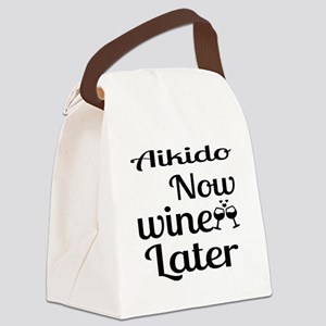 Aikido Now Wine Later Canvas Lunch Bag