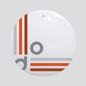 Mode Logo_Ext_grys-orng-grad1 Round Ornament