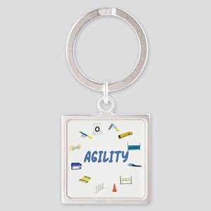 Agility Equipment Circle Square Keychain