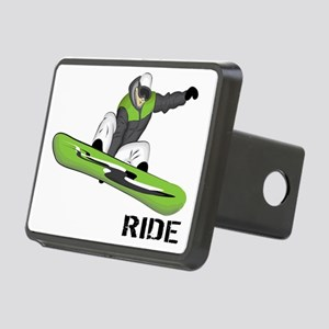 SnowboarderBack Rectangular Hitch Cover