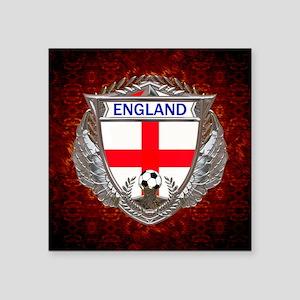 "England Soccer Keepsake Box Square Sticker 3"" x 3"""