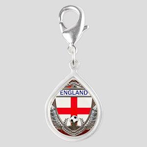 England Soccer Keepsake Box Silver Teardrop Charm